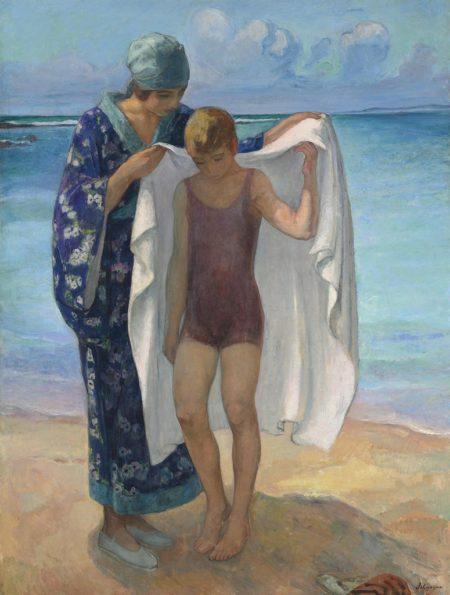 Henri Lebasque-Prefailles, la sortie de bain-1922