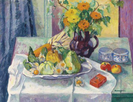 Henri Charles Manguin-Le plat de fruits-1938