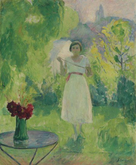 Henri Lebasque-Promenade dans le jardin-1925