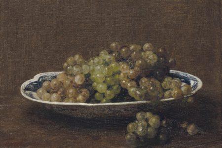 Henri Fantin-Latour-Assiette de raisin-1886