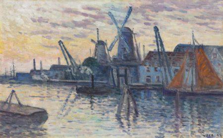 Maximilien Luce-Moulins en Hollande-1908