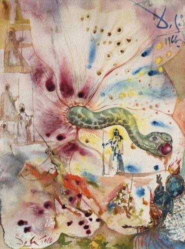 Salvador Dali-Le serpent et la pomme-1966