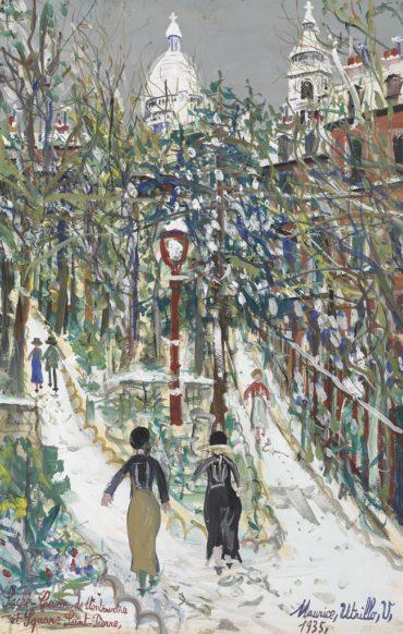 Maurice Utrillo-Sacre-Coeur de Montmartre et Square Saint-Pierre-1935