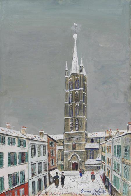 Maurice Utrillo-Eglise Saint-Michel, Limoges (Haute-Vienne)-1934