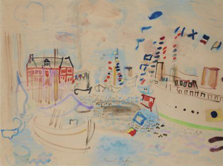 Raoul Dufy-Bateaux pavoises a Deauville-