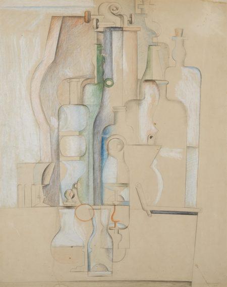 Le Corbusier-Nature morte verticale-1922