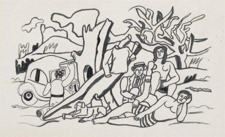 Fernand Leger-La partie de campagne-1954