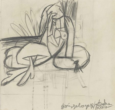 Pablo Picasso-Femme assise-1934