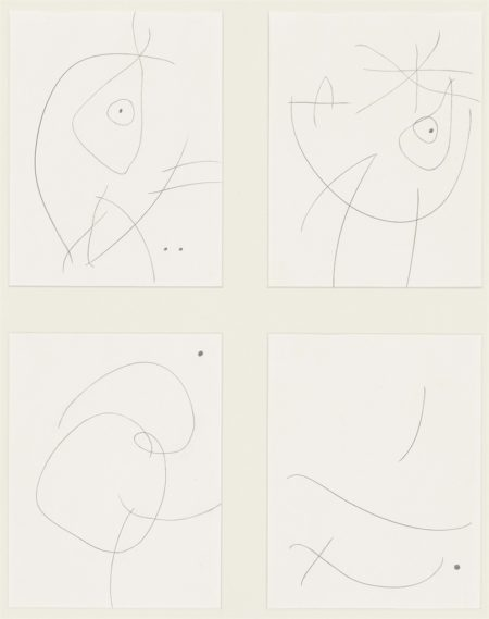 Joan Miro-Untitled (III, IV, VII and XIV)-1973