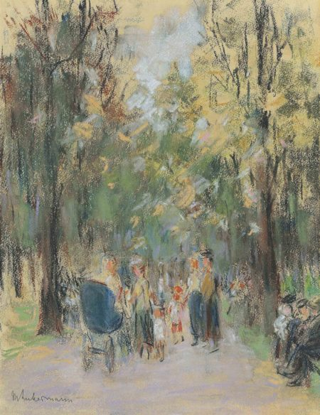 Max Liebermann-Spaziergang im Berliner Tiergarten-1925