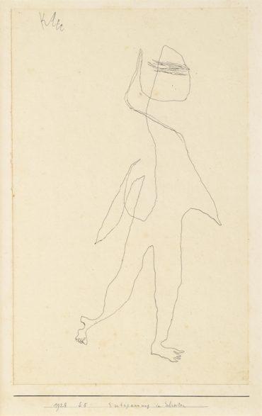 Paul Klee-Entspannung im Schreiten (Relaxation while walking)-1928