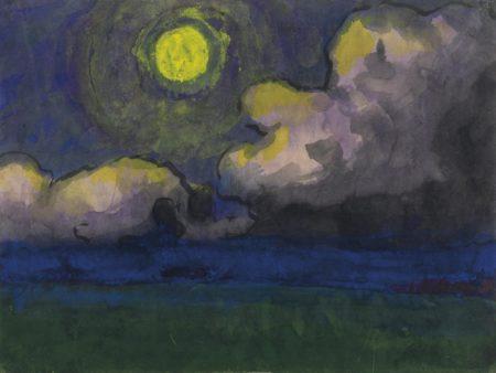 Emil Nolde-Mond uber der Marsch-1930