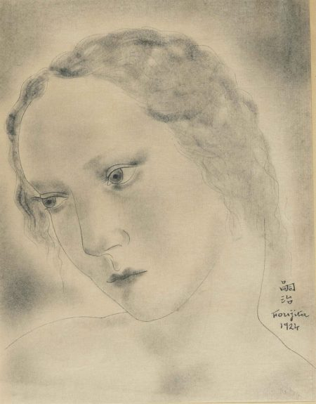 Tsuguharu Foujita-Tete de femme-1924