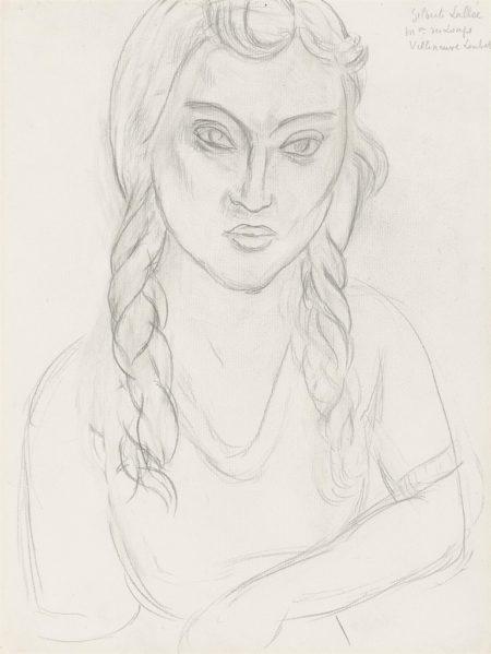 Henri Matisse-Portrait de Gilberte Lallee-1918