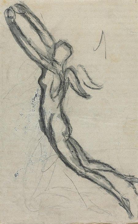 Auguste Rodin-Figure ailee-1883