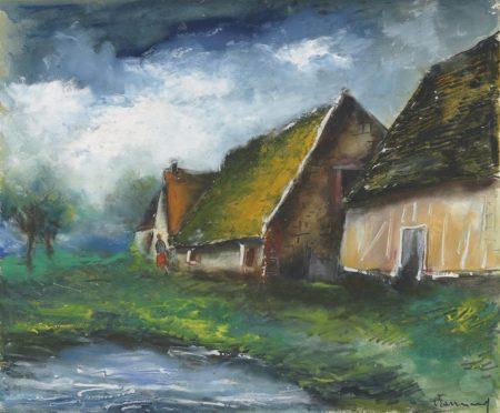 Maurice de Vlaminck-Paysage a la mare-