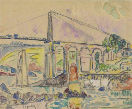 Paul Signac-Lezardrieux, Le pont-1925