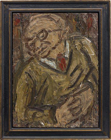 Leon Kossoff-Portrait Of Chaim II-1987
