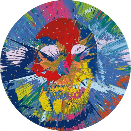 Damien Hirst-Beautiful Catequil Negativism Painting For Nick (With Diamonds)-2011