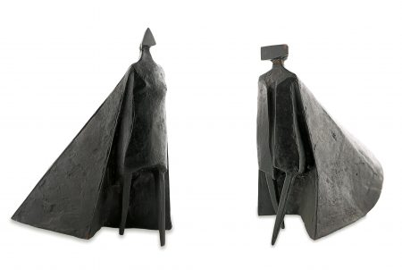 Lynn Chadwick-Walking Cloaked Figure VI-1980