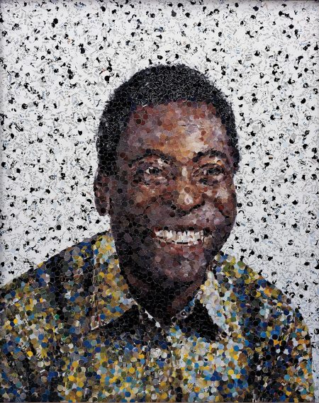 Vik Muniz-Edson (Pele) From Pictures Of Magazines-2003