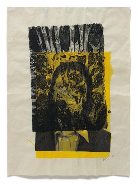 Albert Oehlen-Ohne Titel (Self-Portrait)-1990