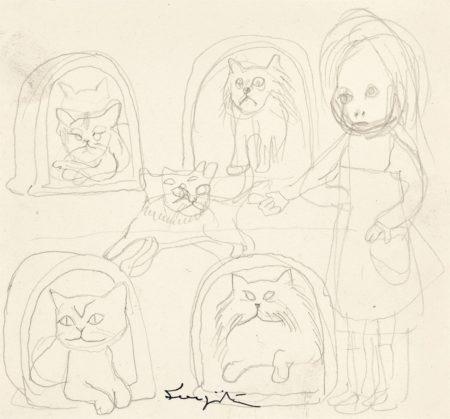Tsuguharu Foujita-La marchande de chats-