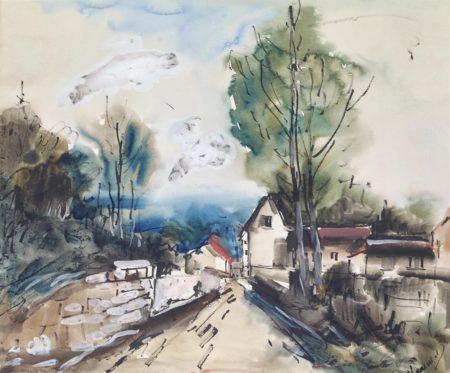 Maurice de Vlaminck-L'entree du village-