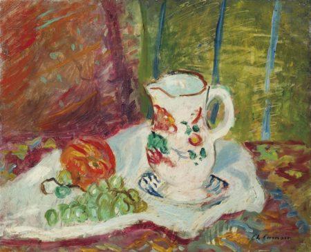 Charles Camoin-Nature morte aux raisins et pichet-1950