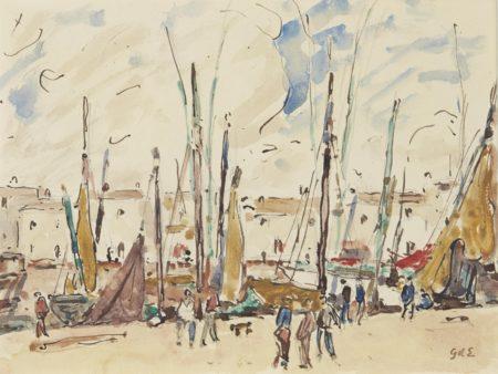 Georges d'Espagnat-Scene de port-