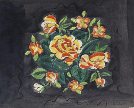 Raoul Dufy-Bouquet de fleurs-