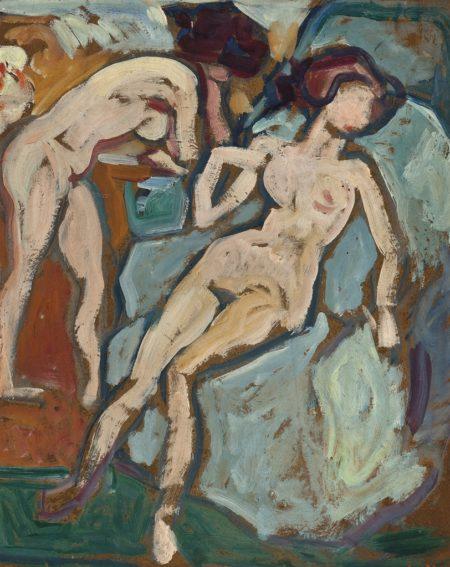 Louis Valtat-Nu au fauteuil bleu-1915