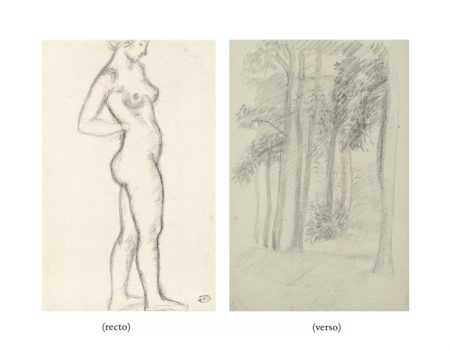 Aristide Maillol-Femme nue debout (recto); Les arbres (verso)-