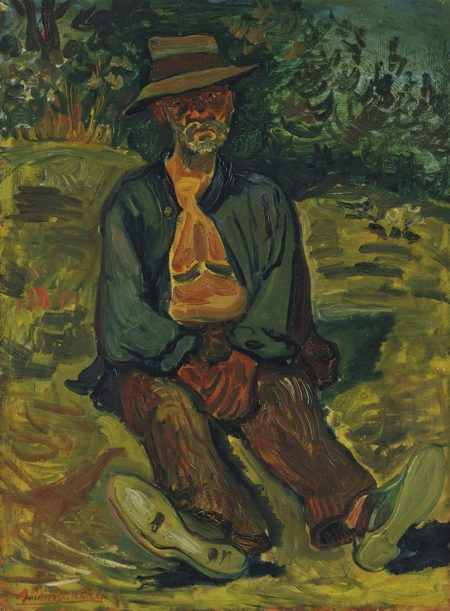 Abraham Mintchine-Paysan assis-