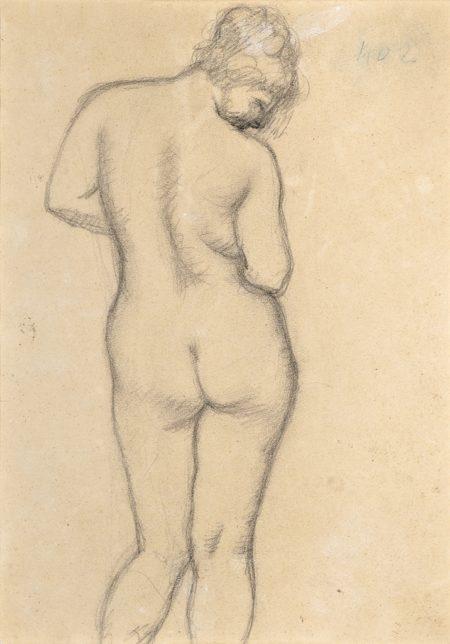 Aristide Maillol-Femme nue de dos (recto); Femme nue debout (verso)-
