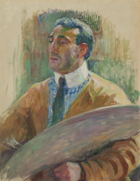 Theo van Rysselberghe-Auto-portrait a la palette-