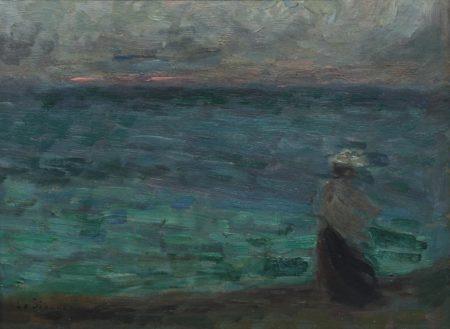 Henri Le Sidaner-Au bord de la mer-1908