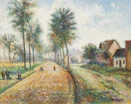 Hugues Claude Pissarro-La route de Flandre, Conchy-les-Pots-