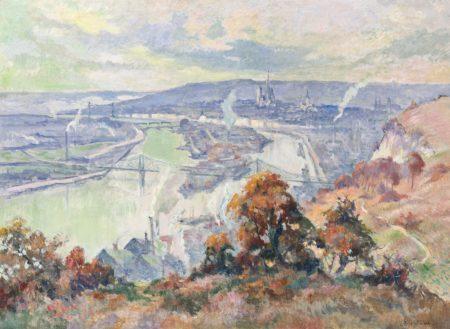 Robert Antoine Pinchon-La Seine a Rouen en Automne-