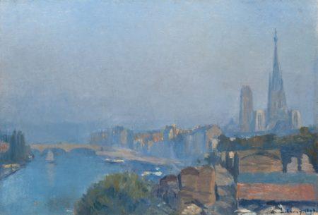 Albert Lebourg-Rouen, la Seine et la Cathedrale-1895