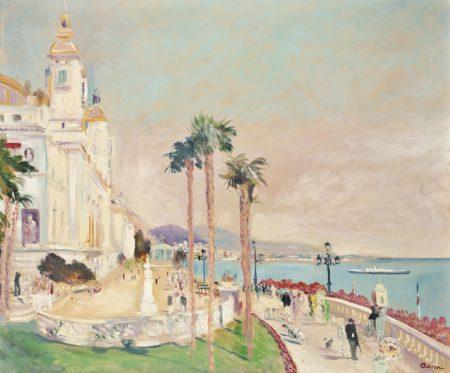 Lucien Adrion-La promenade a Monte Carlo-