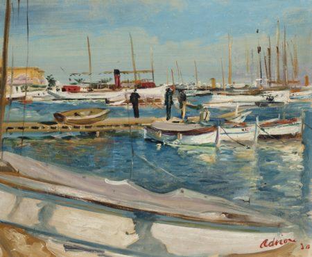 Lucien Adrion-Port de Cannes-1930