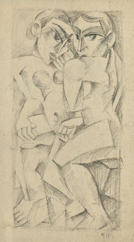 Max Weber-Personnages cubistes-