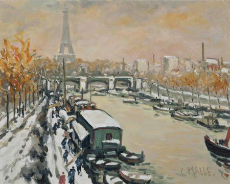 Charles Malle-La Seine a la Tour Eiffel, Paris-