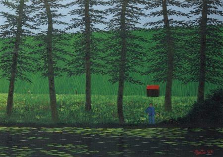 Camille Bombois-Le pecheur aux grands arbres-