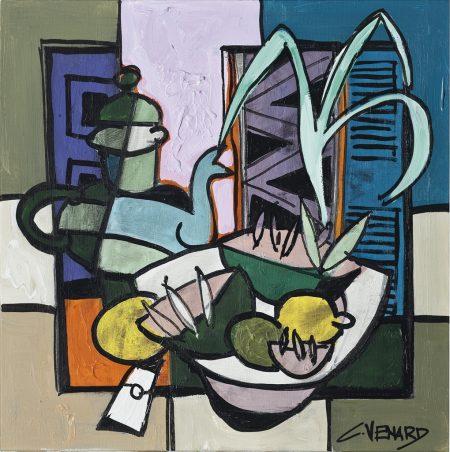 Claude Venard-La cafetiere bleue-