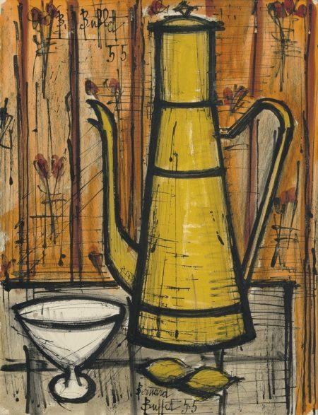 Bernard Buffet-Cafetiere jaune-1955