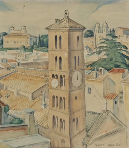 Gerda Wegener-View of St Silvestro, Rome-1931