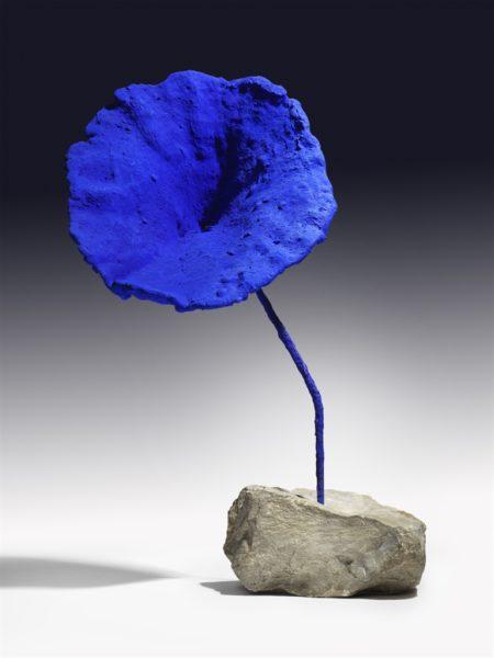 Yves Klein-Sculpture eponge bleue sans titre (SE 284)-1959