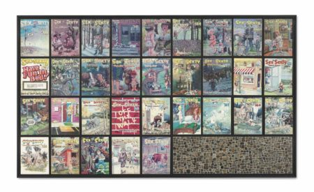 Mike Kelley-Missing Time Color Exercise (reversed) No.5 (Resonating Stone Walls)-2002